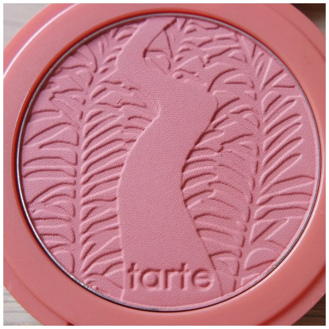 Tarte Amazonian Clay Blush swatch review Achiote