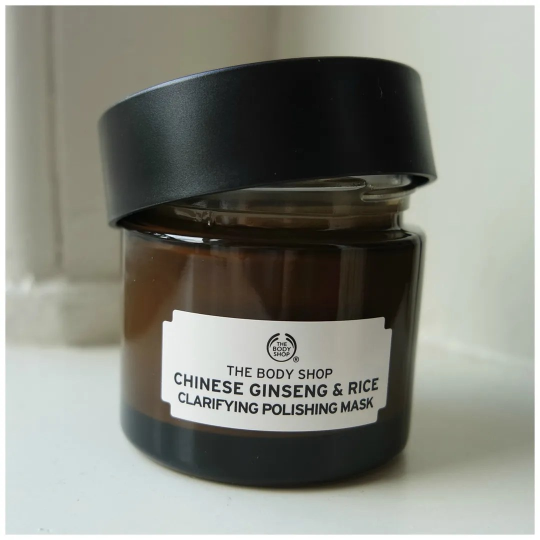 the body shop chinese ginseng & rice clarifying polishing face mask review swatch sensitive skin dehydrated dry normal