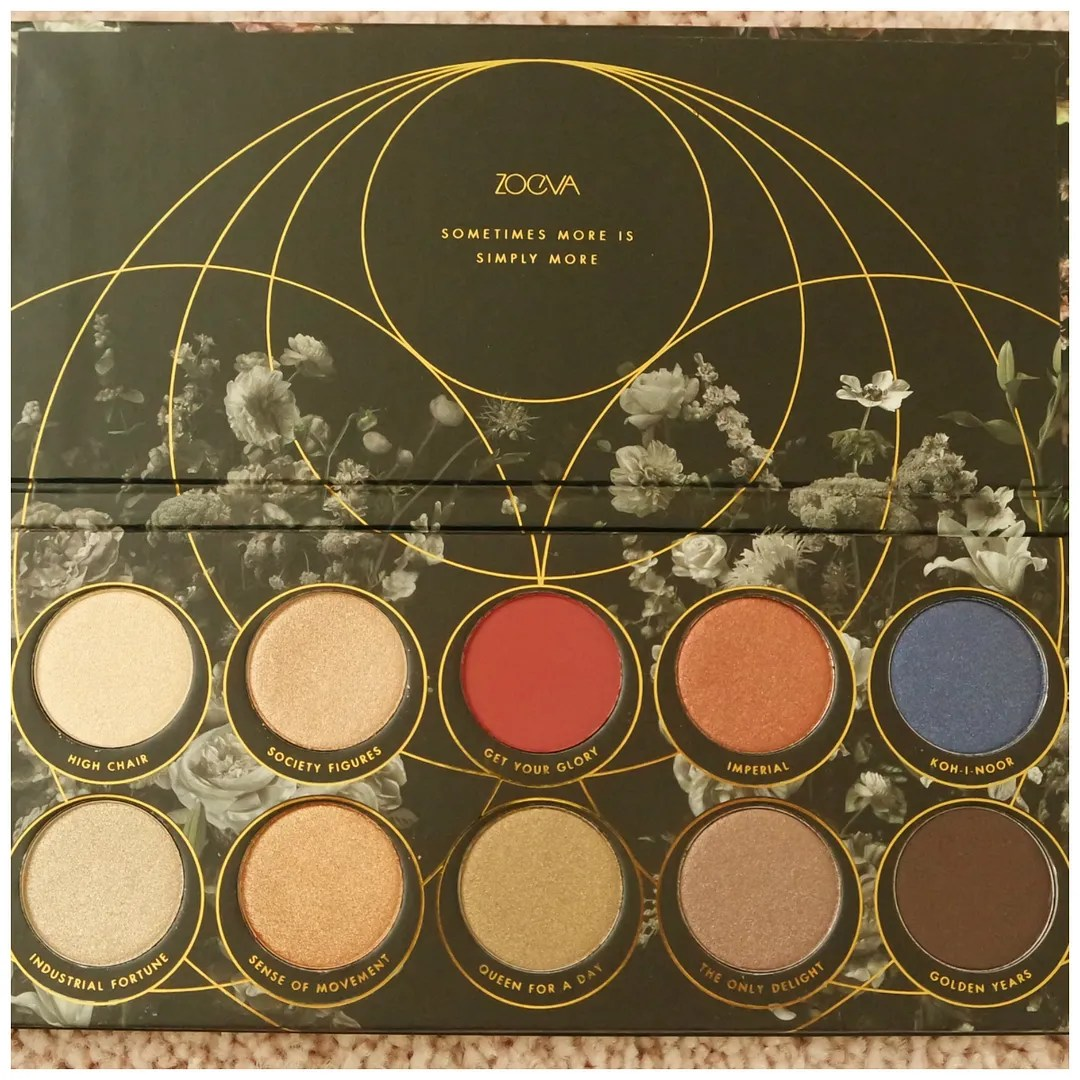 zoeva opulence collection box set brush set eyeshadow palette blush face review swatch