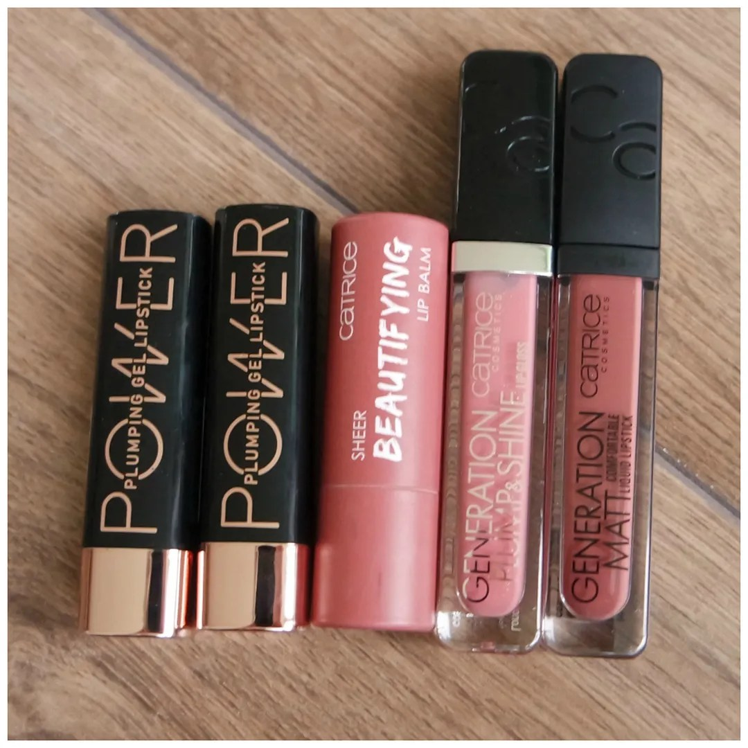 catrice lipstick lipgloss review swatch Power Plumping Gel lipstick 030 Speak Up! & 090 The Future is Femme Beautifying Lip Balm 020 Fashion Mauvement Generation Plump & Shine 040 Dusty Rose Quartz Generation Matt 050 Danger Lips
