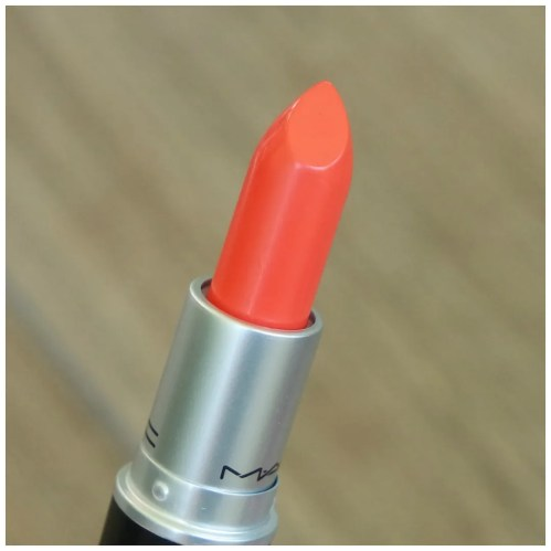 mac morange amplified lipstick swatch review