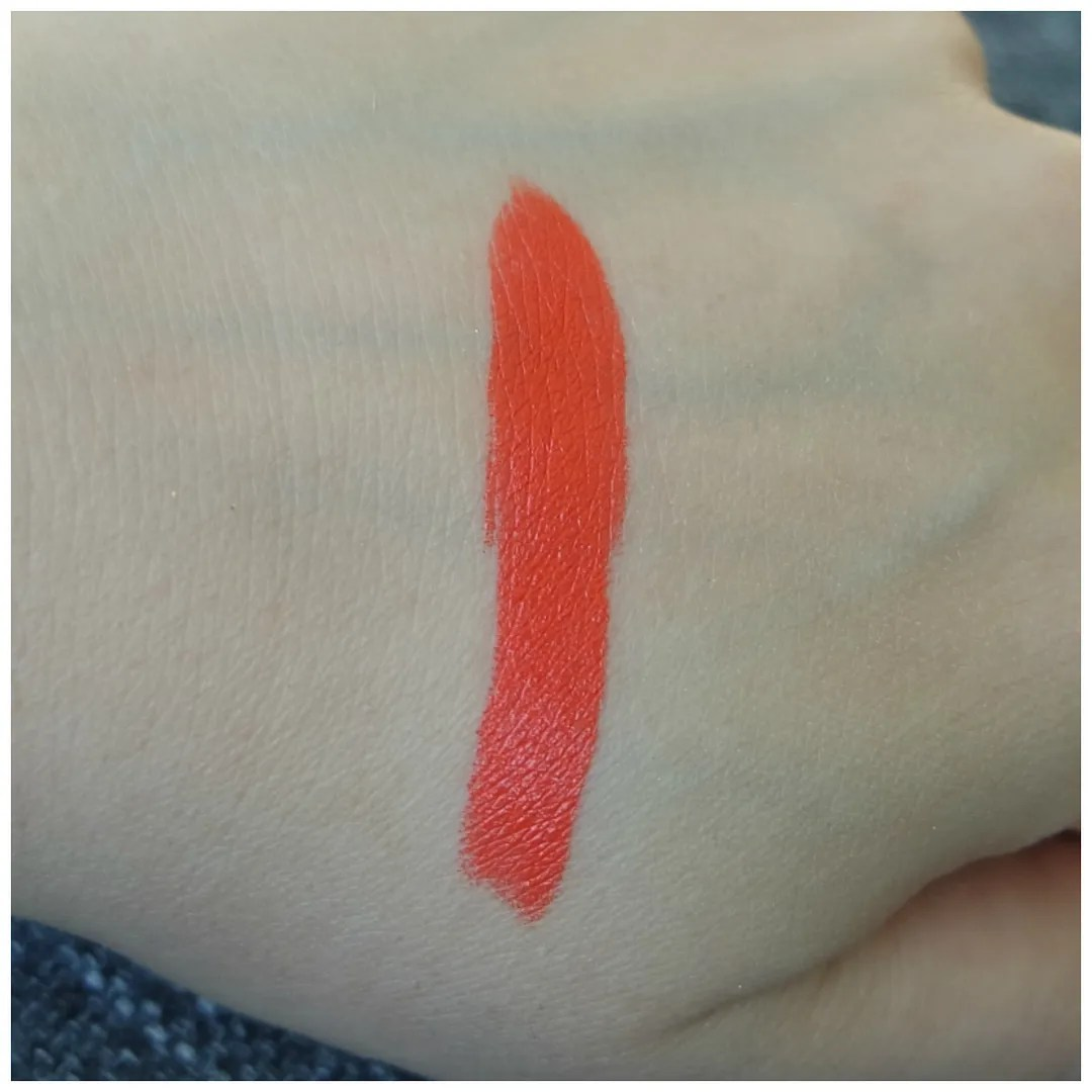 mac morange amplified lipstick swatch review