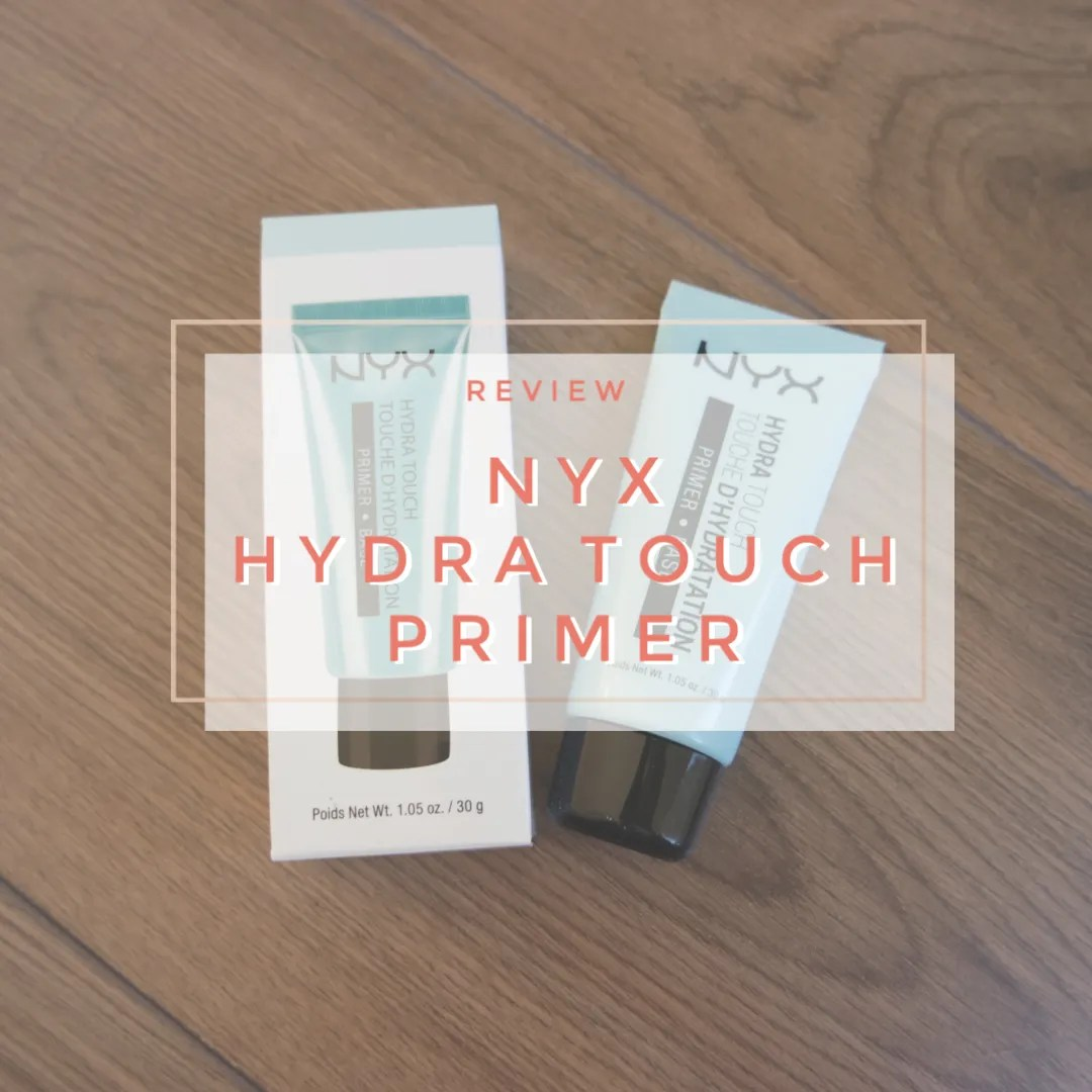 nyx hydra touch hydrating primer review swatch