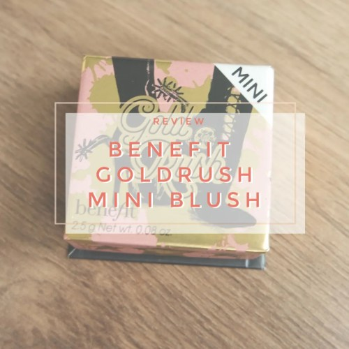 benefit gold rush mini box blush review swatch makeup look application