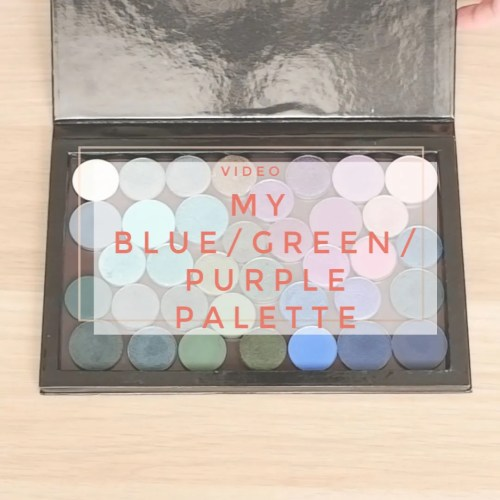 blue green purple eyeshadow palette custom single nabla sidney grace anastasia beverly hills coloured raine review swatch makeup looks