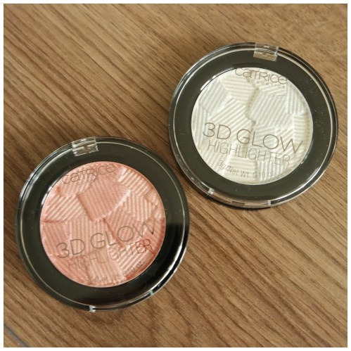 catrice 3d glow highlighter review swatch icy glaze pinch of rose