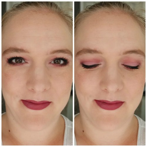 dose of colors monochromatic eyeshadow palette review swatch makeup look marvellous mauves blushing berries application