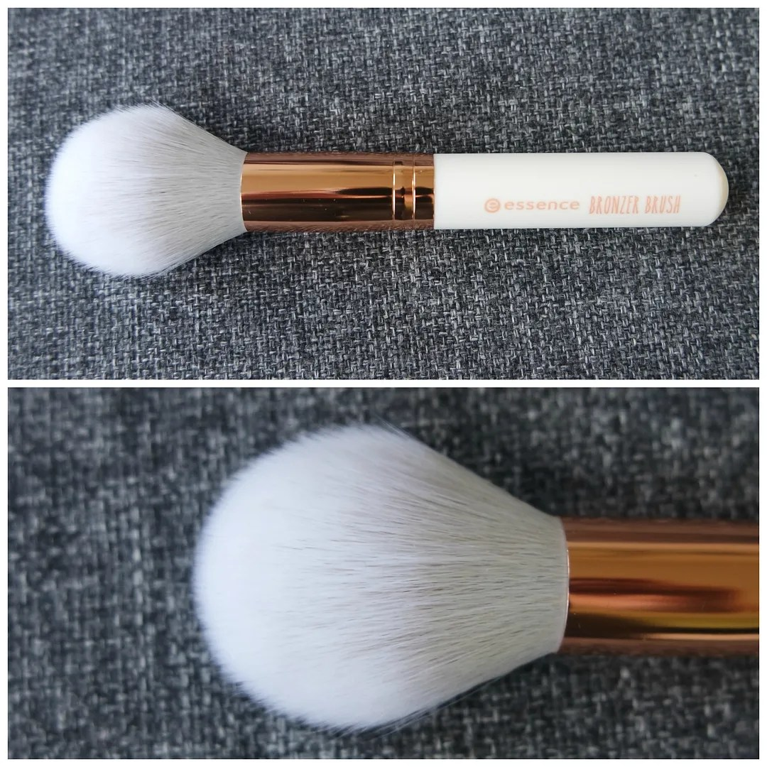 essence makeup tools brushes sponge bronzer glitter review swatch