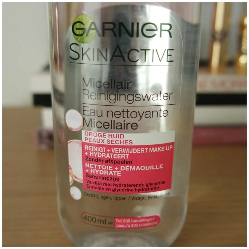 garnier micellar water cleanser dry skin review swatch