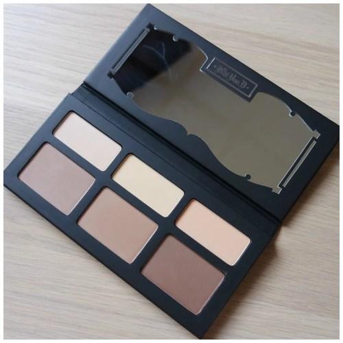 kat von d shade & light contour palette face review swatch