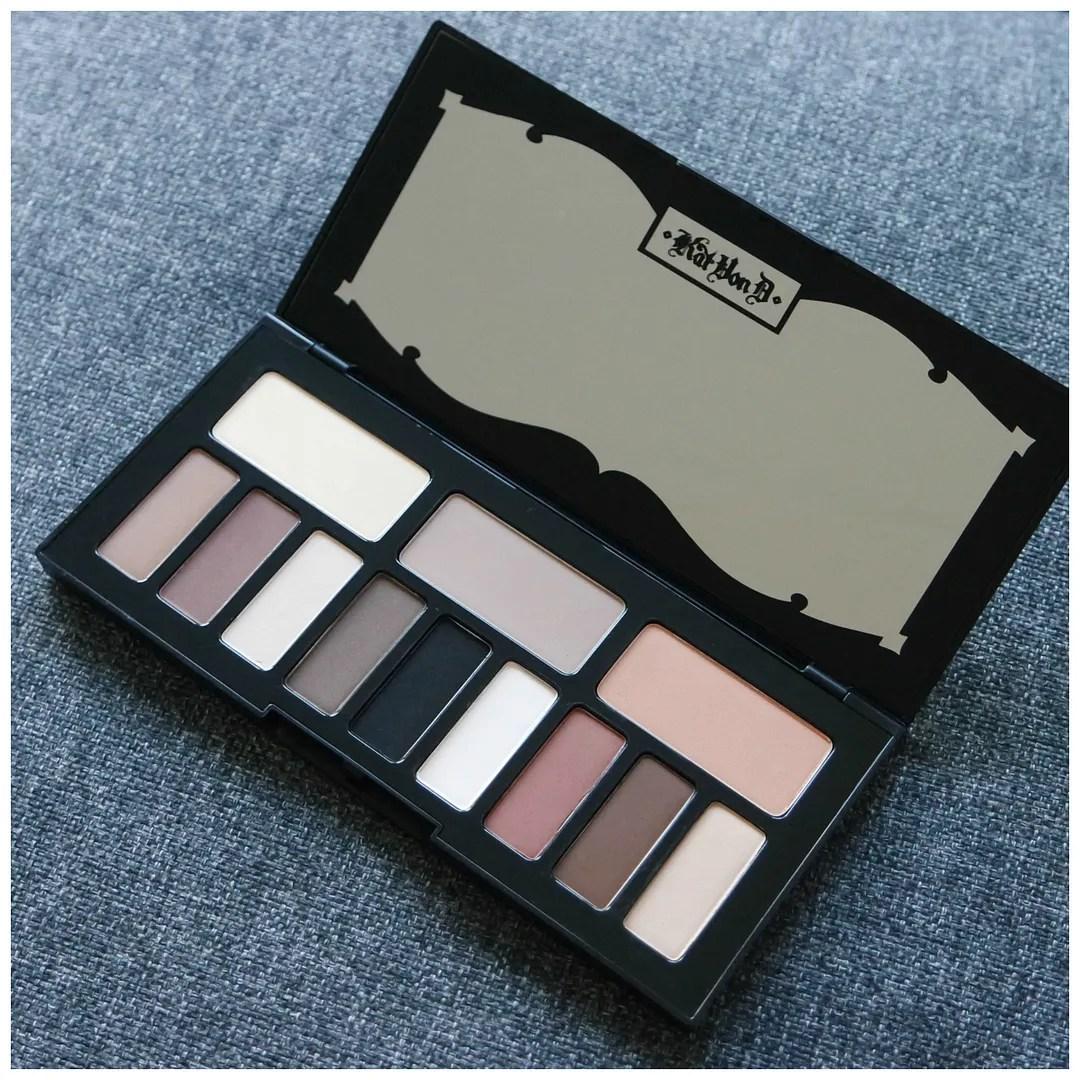 kat von d shade & light eye eyeshadow palette review swatch