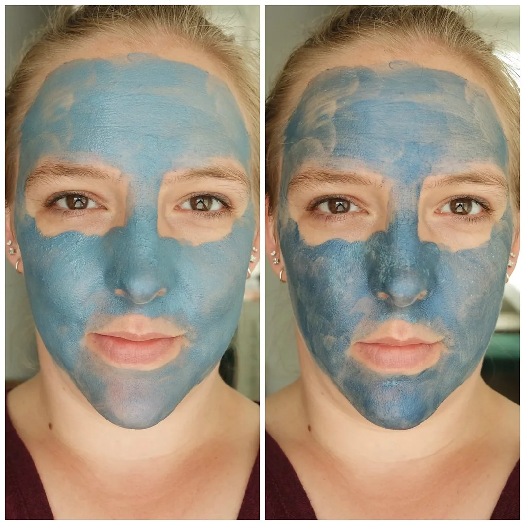 L'Oreal Pure Clay mask anti-imperfections seaweed extract review swatch