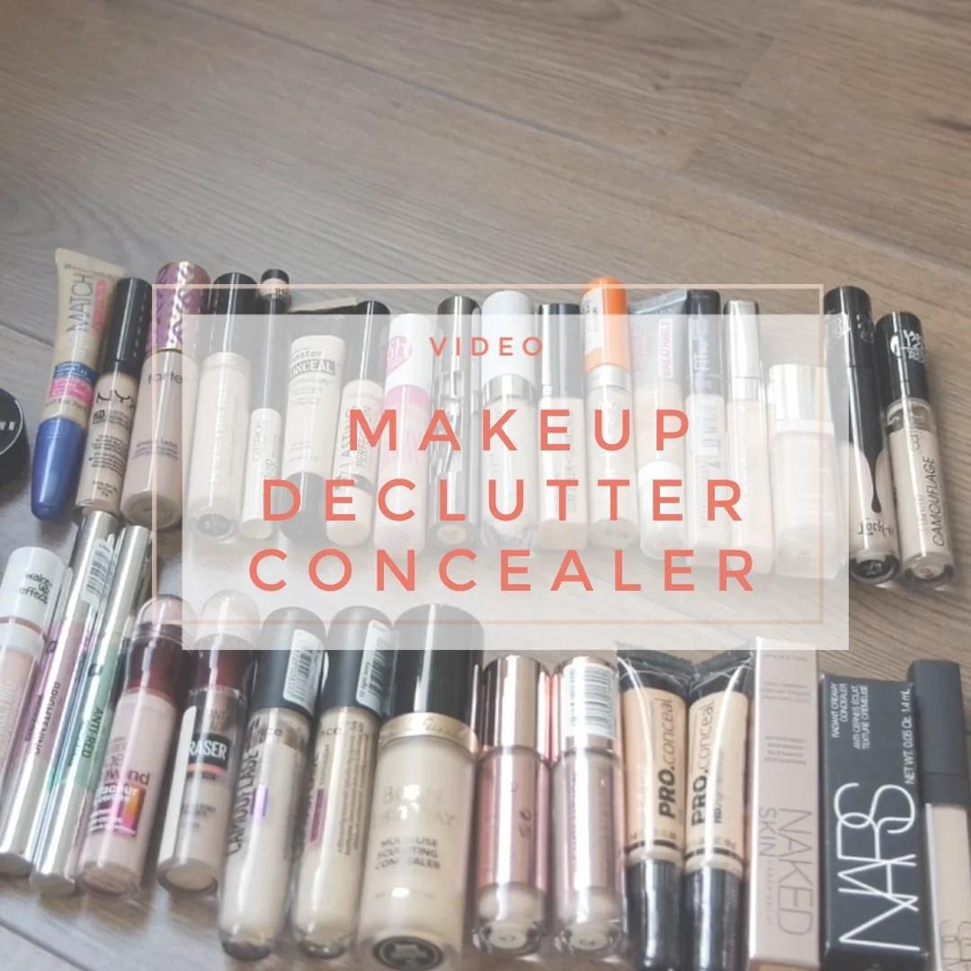 makeup declutter 2019 concealer