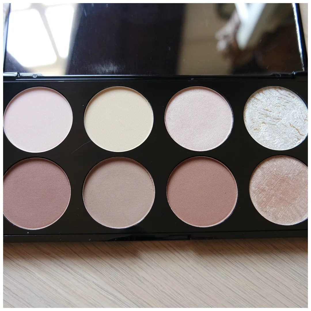 make up revolution ultra contour face palette review swatch