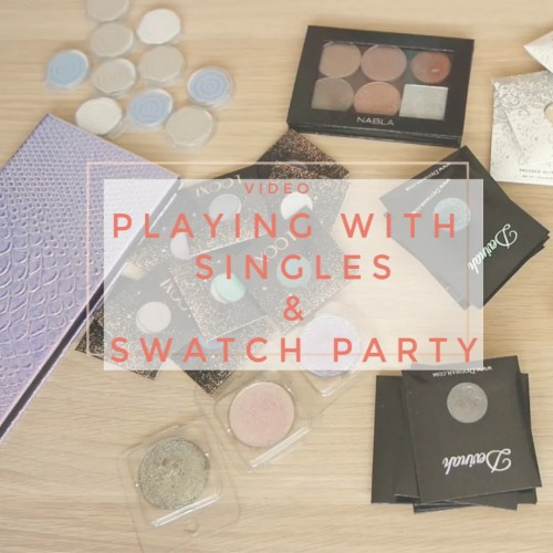 playing with singles swatch party makeup eyeshadow palette review clionadh jd glow looxi beauty devinah colourpop