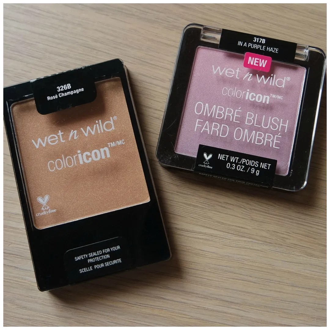 wet n wild color icon blush ombre rosé champagne in a purple haze review swatch