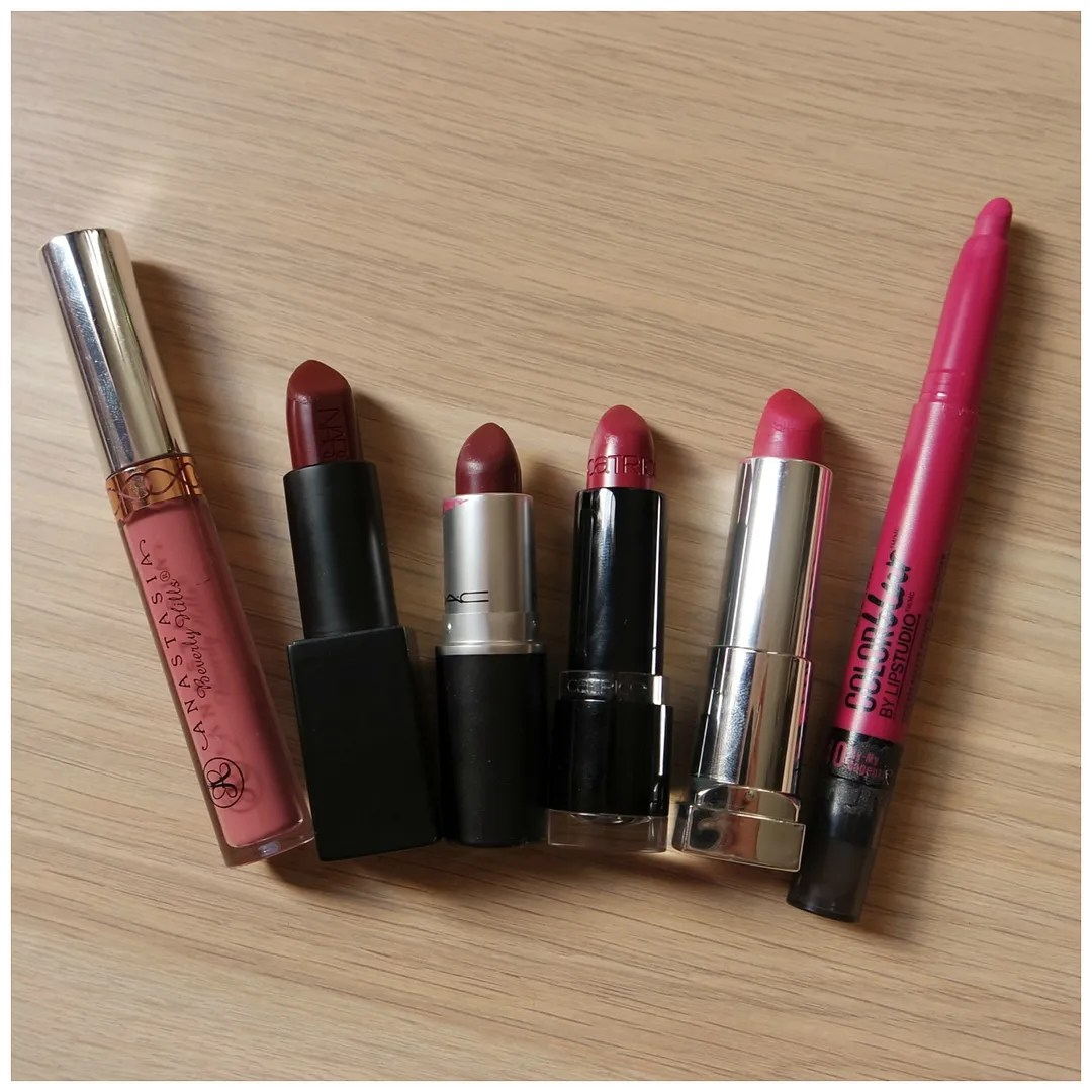 top 6 winter time lipsticks anastasia beverly hills nars mac catrice maybelline