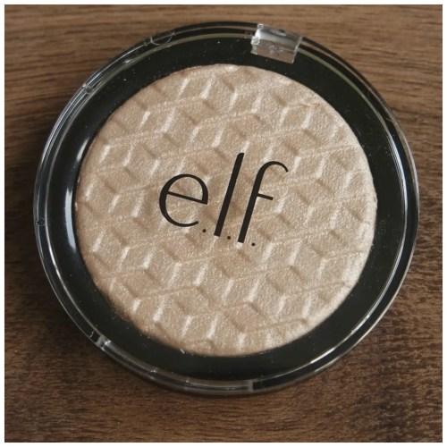 elf white gold highlighter review