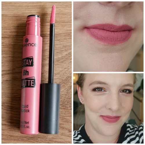 essence 8 hr stay matte liquid lipstick review wear test closeup swatch lipswatch