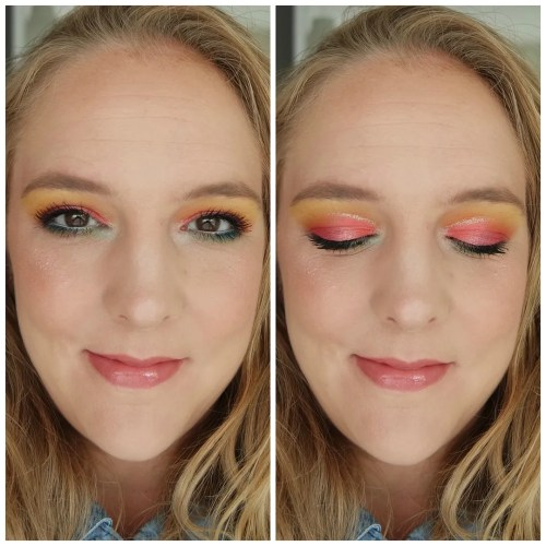 nyx ultimate brights eyeshadow palette review swatch 3 looks 1 palette
