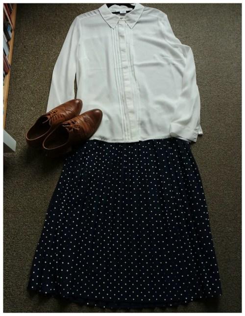 how I wear polka dots