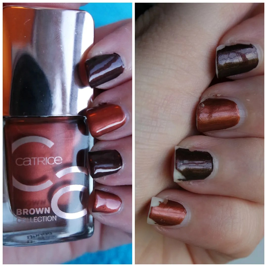 Catrice the brown collection nails nail polish review swatch 03 goddess of bronze 04 unmistakable style