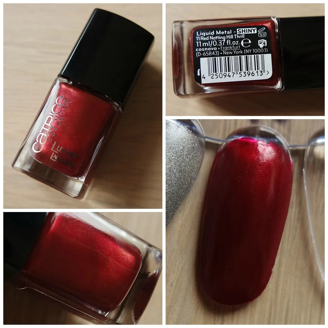 Catrice Luxury Lacquer Liquid Metal Shiny 11 Red Notting Hill Thrill