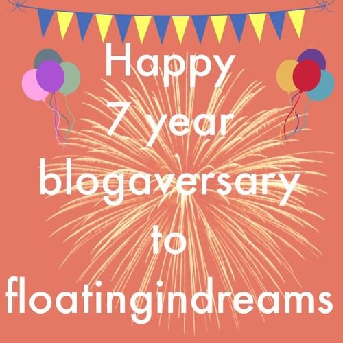 happy birthday blogaversay blog anniversary floating in dreams