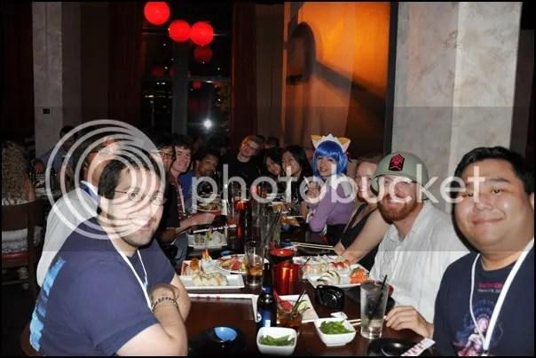 Pre-Otakon dinner at Ra Sushi