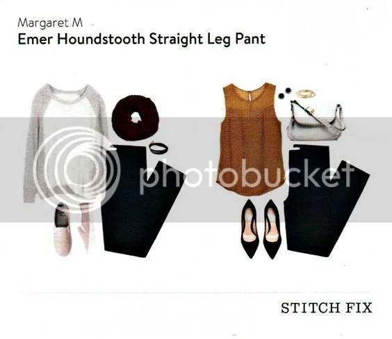 Emer Houndstooth Straight Leg Pant photo ecd0db3b6e05b98d03232502f47eeaf3.jpg