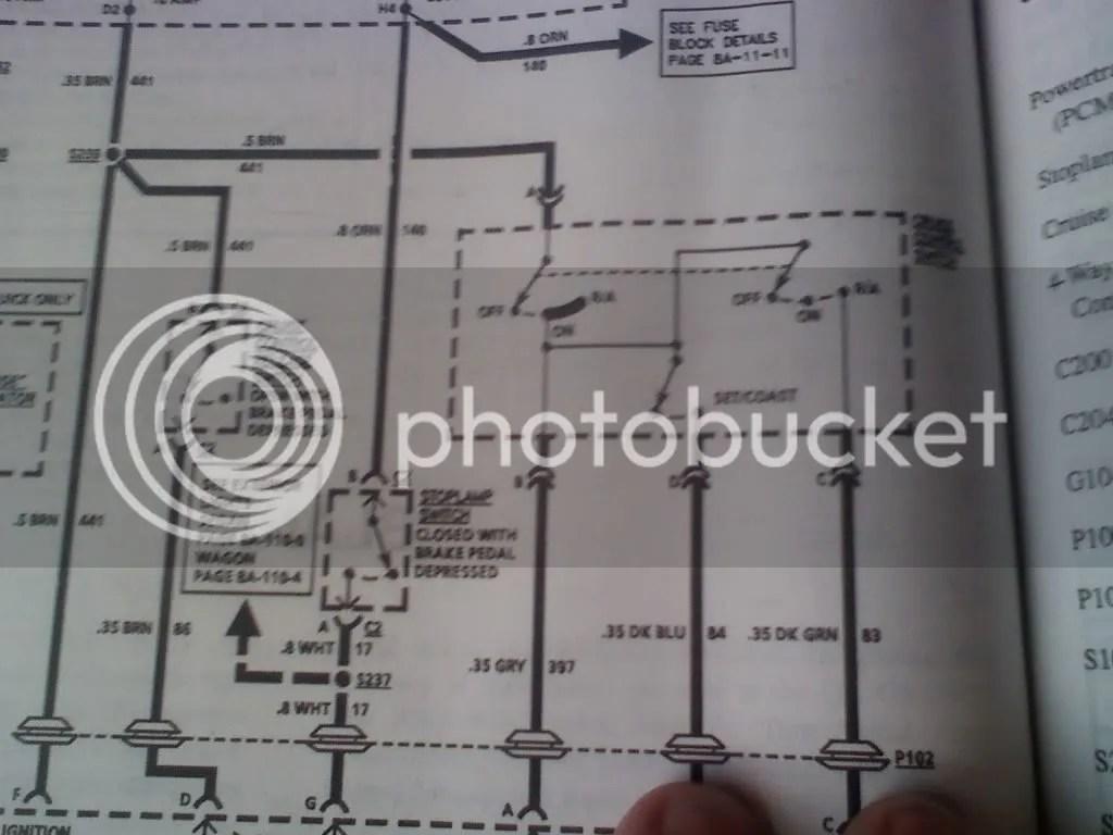 Need Cruise Control Wiring Diagram
