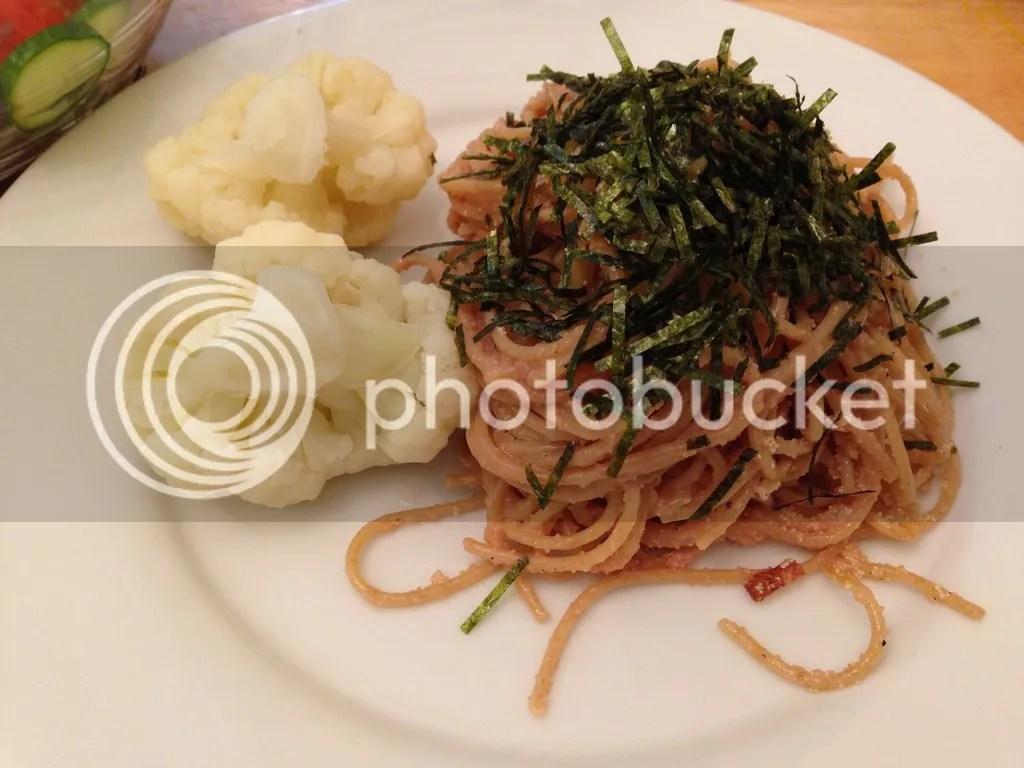 Mentaiko Spaghetti by Ereina Avery photo Mentaiko_zpsrdt3fdv9.jpg