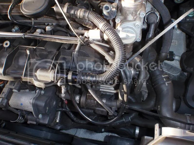 Clip the vacuum tap onto the Intake manifold an reattach the PCV hose