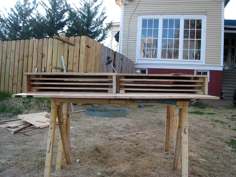 Bat House Progress | Behind cohutt's fence