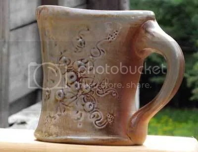 Wood-fired pottery mug by Becca Van Fleet... so beautiful it makes my day better just sipping from it!