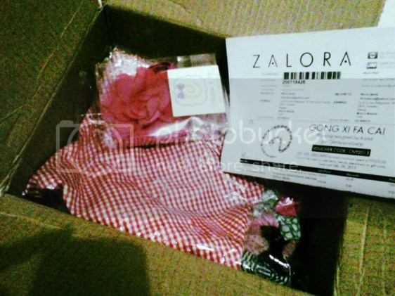 opened zalora items