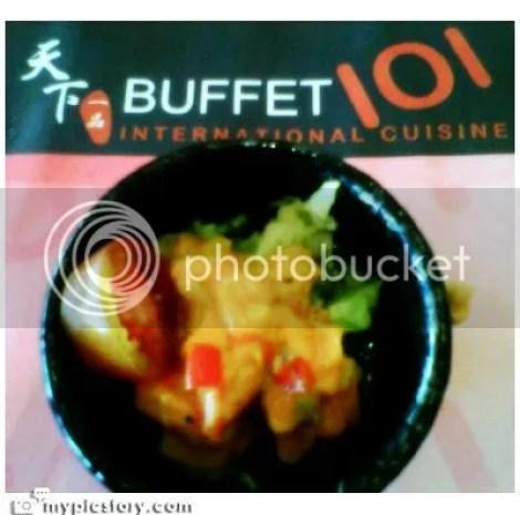 salmon salad at buffet 101