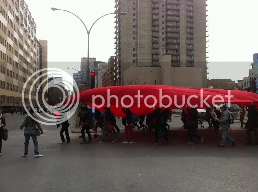 Montréal 14 Avril 2012 – Manifestation