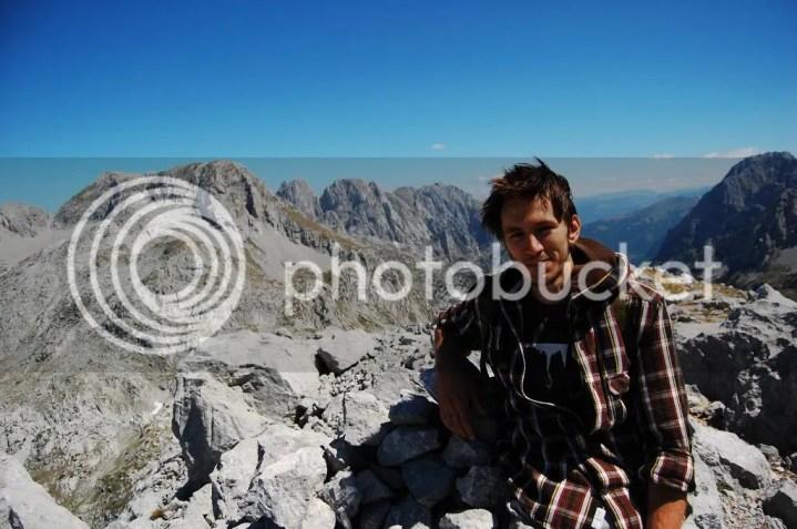 Redi at the summit Maja e Arapit