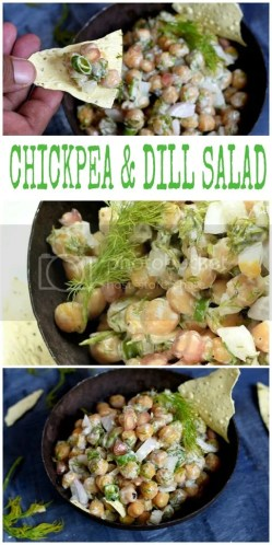 chickpea dill salad