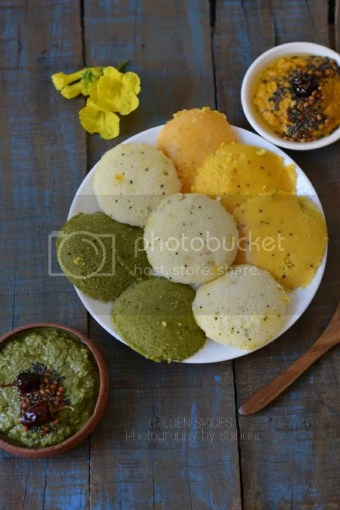 instant rawa idli / tri colour idli