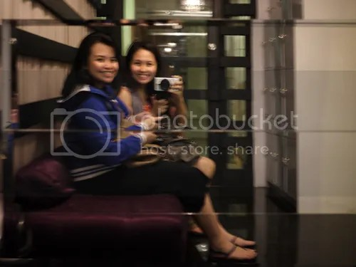 Blurred picture of us while waiting