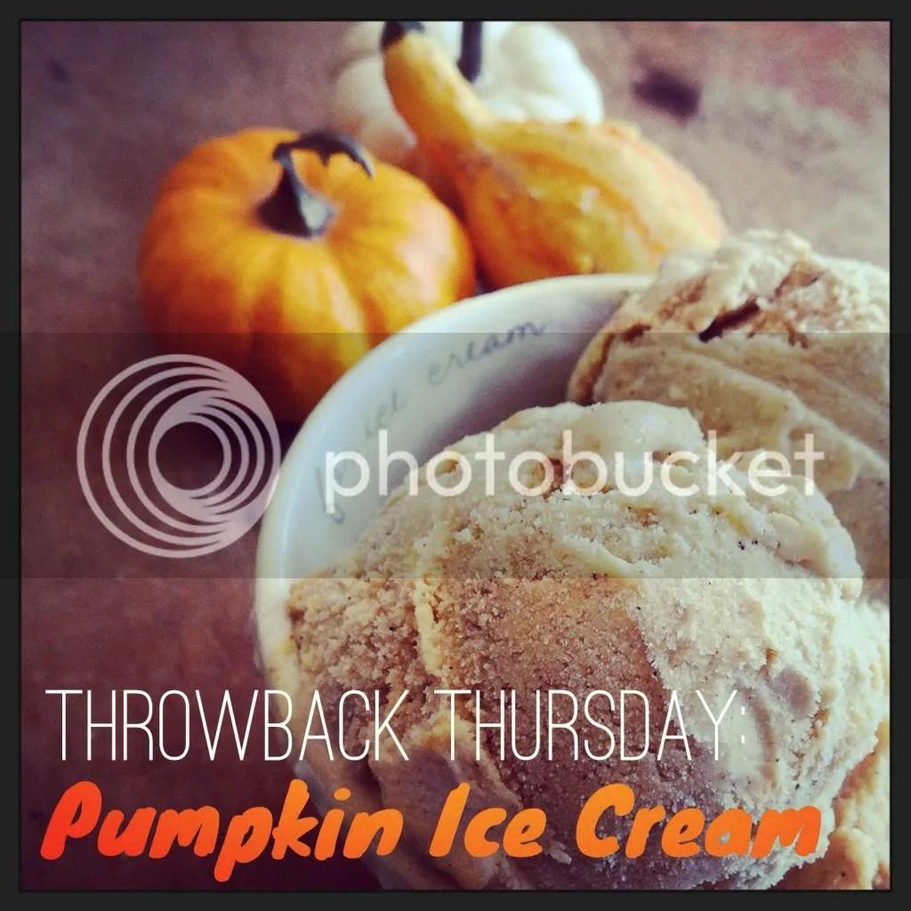 Throwback Thursday: Pumpkin Ice Cream