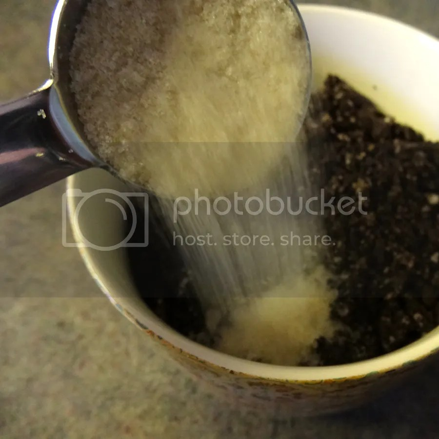 Add sugar and melted butter to crushed Oreos