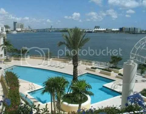 Two Tequesta Point bayfront swimming pool