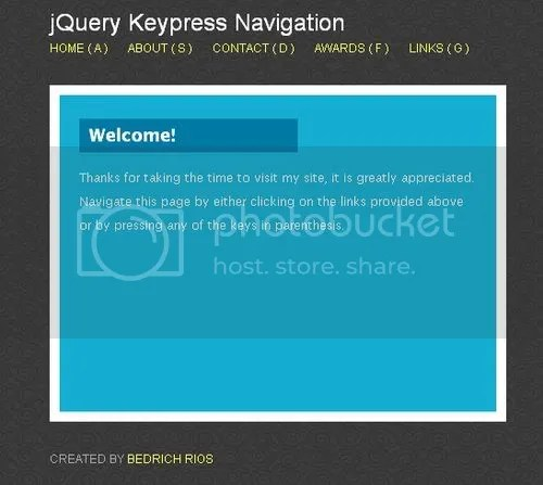 Keypress Navigation