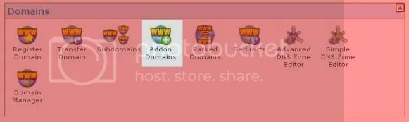 Add On domain cPanel