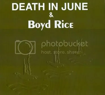 DEATH IN JUNE & BOYD RICE - Alarm Agents CD