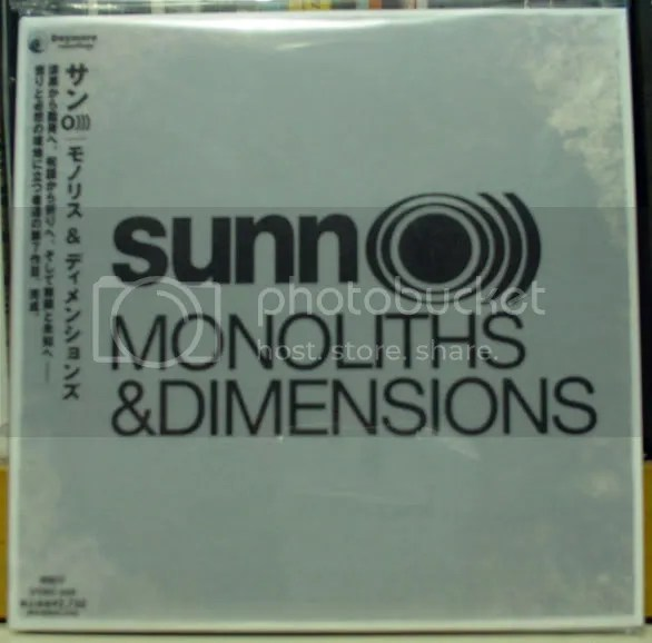 SUNN O))) - Monoliths Dimensions Japanese CD