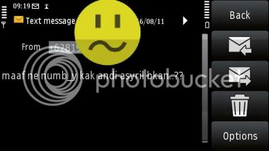 sms dari fans